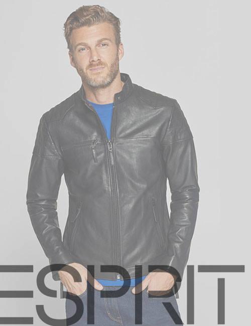 Мужская кожаная куртка Esprit (Эсприт)