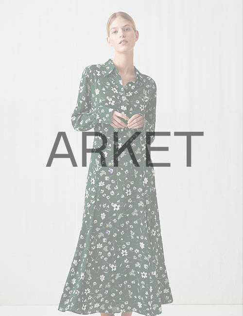 женское платье с принтом Arket (Аркет)