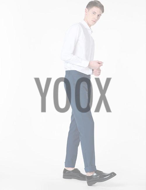 мужчина в одежде yoox